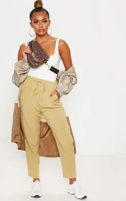 PrettyLittleThing Olive Diya Casual Trouser