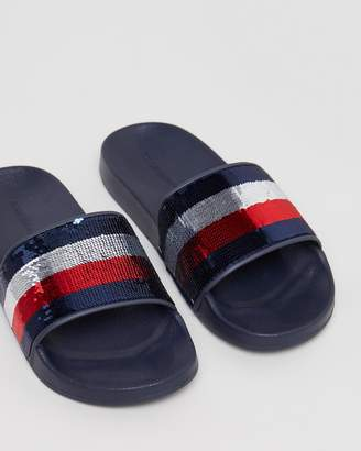 Tommy Hilfiger Tommy Sequins Pool Slides