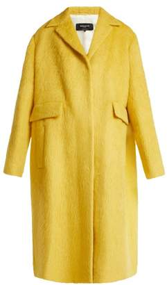 Rochas Single Breasted Alpaca And Wool Blend Coat - Womens - Yellow
