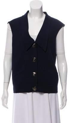 Oscar de la Renta Silk Tweed Vest