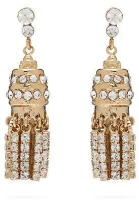 Etro Crystal Embellished Tassel Earrings - Womens - Gold
