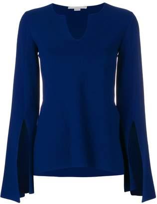 Stella McCartney slit sleeve knitted top