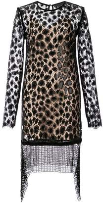 Alexander Wang Leopard Lace Long Sleeve dress