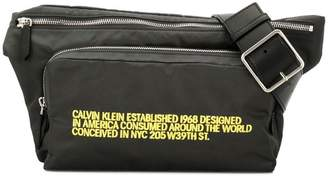 Calvin Klein embroidered belt bag