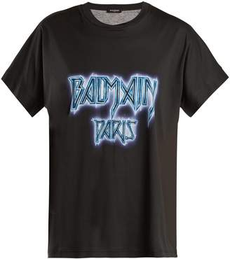 Balmain Oversized logo print cotton T-shirt