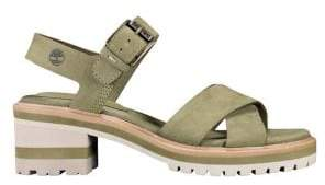 Timberland Marsh Cross-Band Leather Sandals