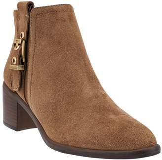 Franco Sarto Suede or Leather Booties with Buckle - Eminent