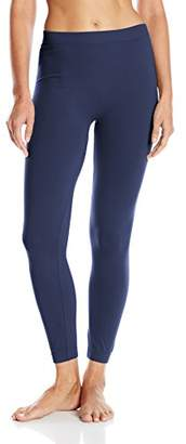 Carnival Women's Full Length Seamless Microfiber Leggings,Large/X-Large