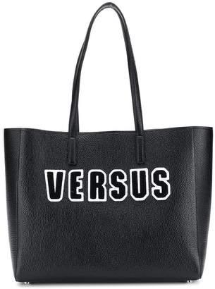 Versus logo patch tote bag