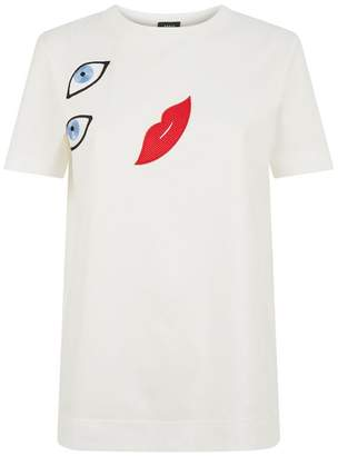 Akris Embroidered Face T-Shirt