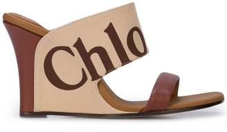 Chloé wedge slip-on sandals