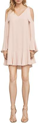 BCBGMAXAZRIA Ellyson Cold-Shoulder A-Line Dress