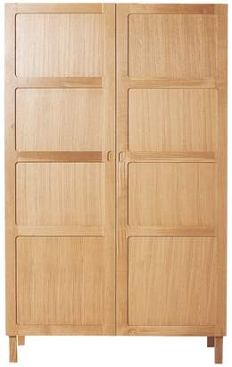 Radius 2 door wardrobe with hanging rail and 4 shelves
