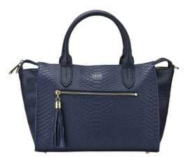 GiGi New York Personalized Grace Pebbled& Embossed Leather Satchel