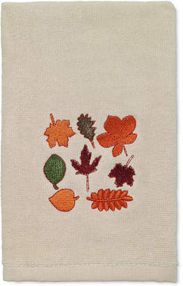 Avanti Last Act! Leaves Cotton Embroidered Hand Towel Bedding