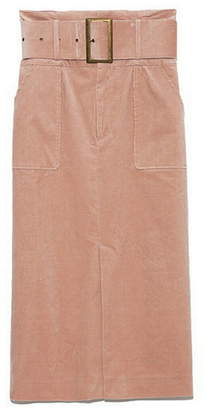 Lily Brown (リリー ブラウン) - Lily Brown コーデュロイミディタイトスカート リリーブラウン スカート