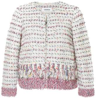 Coohem tweed fringed fitted jacket