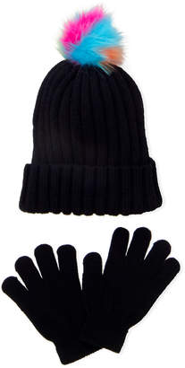 Omg! Accessories (Toddler Girls) Faux Fur Pom-Pom Hat & Gloves Set