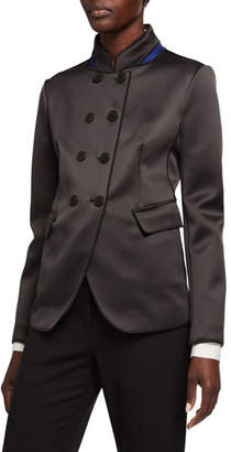 Giorgio Armani Neoprene High-Collar Jacket