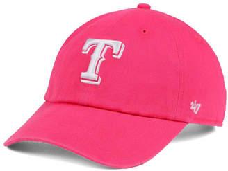 '47 Women Texas Rangers Pink/White Clean Up Cap