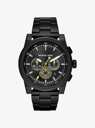 Michael Kors Grayson Black-Tone Watch
