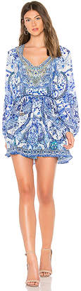 Camilla Shirred Relaxed Short Dress