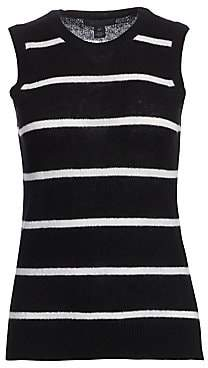 Saks Fifth Avenue Women's COLLECTION Striped Featherweight Cashmere Shell