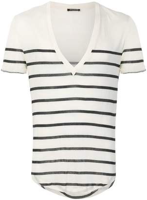 Balmain striped V-neck T-shirt