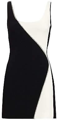 David Koma Women's Contrast Crystal Embellished Mini Dress