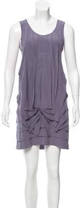 Fendi Gathered Silk Dress
