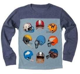 Little Boy's & Boy's Football Helmets Yoke Long-Sleeve Tee