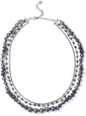 Chan Luu Silver-Tone Beaded Necklace