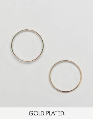 Pilgrim gold plated hoop earrings