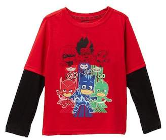 HAPPY THREADS PJ Masks Long Sleeve Tee (Toddler & Little Boys)