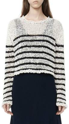 Alexander Wang Raw-Edge Cropped Pullover