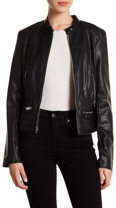 Andrew Marc Lillian Perforated Faux Leather Jacket