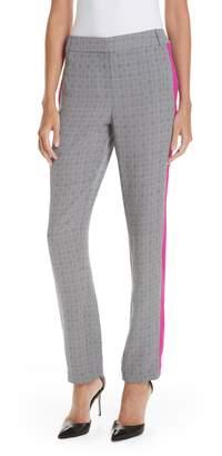Jason Wu GREY Side Stripe Check Silk Pants