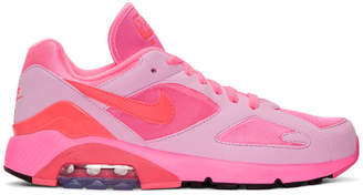 Comme des Garcons Pink Nike Edition Air Max 180 Sneakers