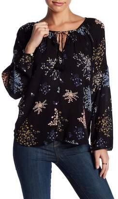 Love Stitch Floral Print Blouse