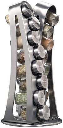 Kamenstein Steel Tower 16-Jar Spice Rack