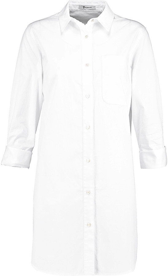 Alexander Wang T by Alexander Wang Cotton-poplin shirt dress