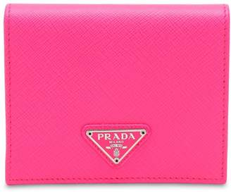 Prada Triangle Logo Saffiano Small Wallet