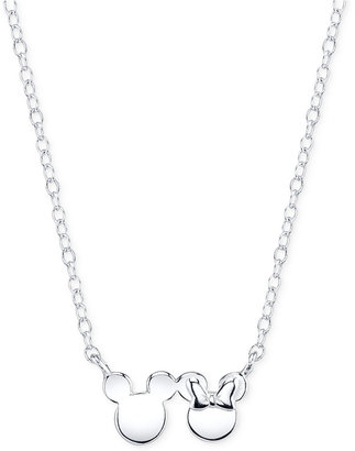 Disney Mickey and Minnie Mouse Pendant Necklace in Sterling Silver $68 thestylecure.com
