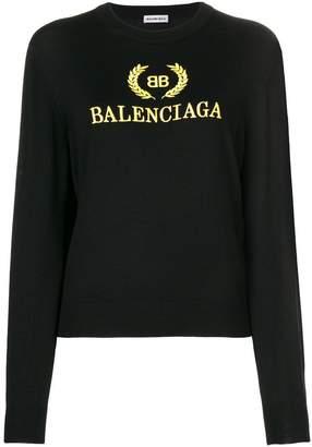 Balenciaga logo embroidered jumper