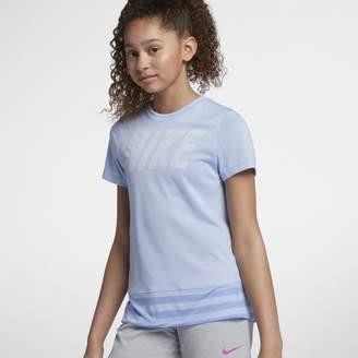 Nike Dri-FIT Older Kids'(Girls') Short-Sleeve Training Top