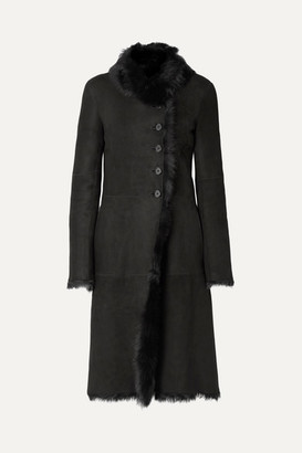 Joseph Luke Shearling Coat - Black