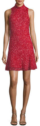 Parker Black Marley Sequin Sleeveless Mini Dress