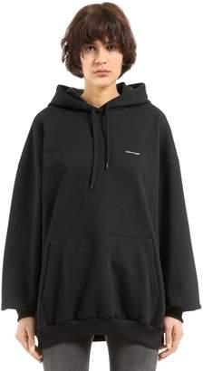 Balenciaga Oversized Hooded Heavy Jersey Sweatshirt
