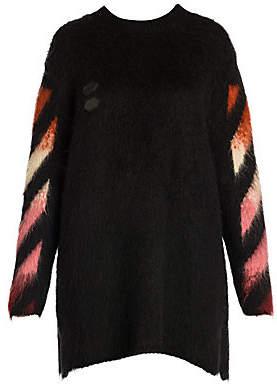 Off-White Women's Diagonal Intarsia Mohair & Wool Sweater
