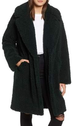 KENDALL + KYLIE Faux Fur Teddy Coat